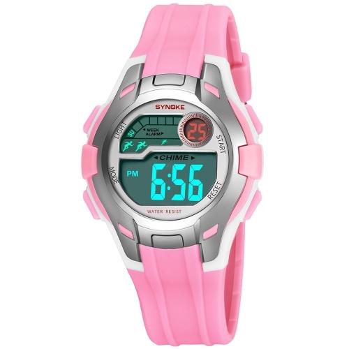 d866b645fb9 SYNOKE Sport Children Wrist Watches LED Digital Stopwatch Alarm Luminous  Water Resistant Girl Boy Watch