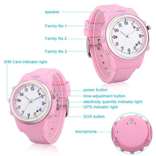 Smart Watch Phone GPS LBS Location Kids IP54 Water Resistant Activity Tracker SOS Call SIM Card Children Bracelet