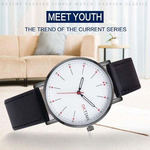Fashion Ultra Simple Couple Quartz Watch Casual Elegant Unisex Analog Wristwatch
