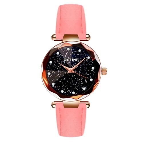 Women Fashion Brilliant Starry Night Dial Watch фото