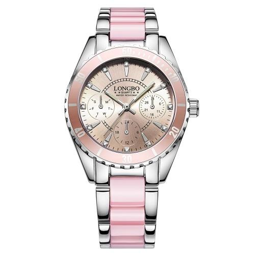 LONGBO 80303L-P10 femmes montres féminin étanche montre de quartz de sport femmes horloge fille pour femme