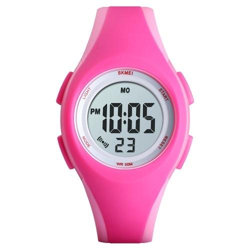 SKMEI 1459 Светящиеся 5ATM Водонепроницаемые цифровые детские спортивные часы фото