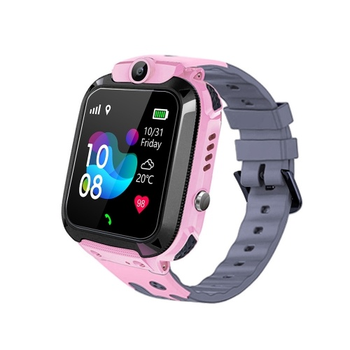 1.44'' Kids Smart Watch LBS Tracker SOS Call 2-Way Call Voice Chat Security Zone Setting IP67 Waterproof Children Phone Watch Smartwatch Phone for Boys Girls