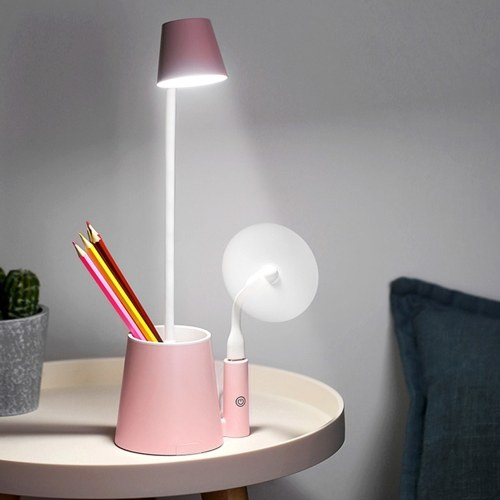 LEDの目は調光可能なテーブルランプの接触制御USBの再充電可能な適用範囲が広い本の読書ライトペンの容器を保護します