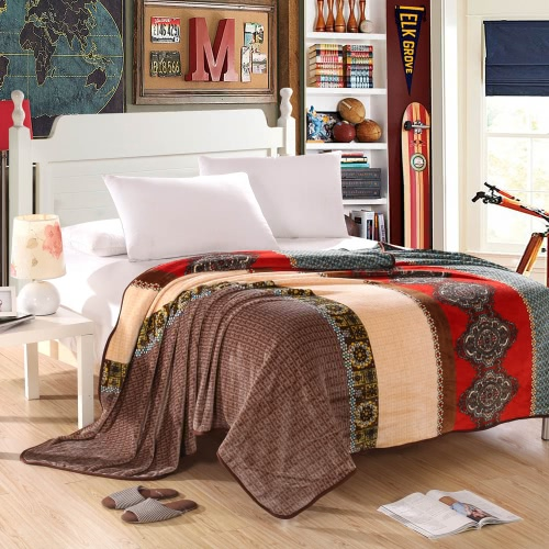 Цепь Лапка Prined шаблон фланелевой одеяло кровати лист постельное белье дома Текстиль королева размер 200 * 230 см
