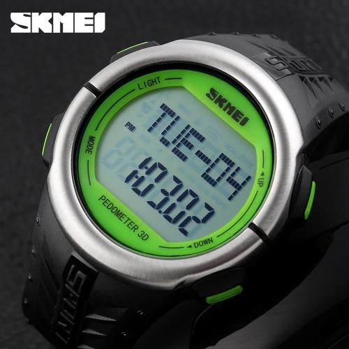 SKMEI Nuevo caso grande podómetro monitor del ritmo cardíaco Reloj Digital
