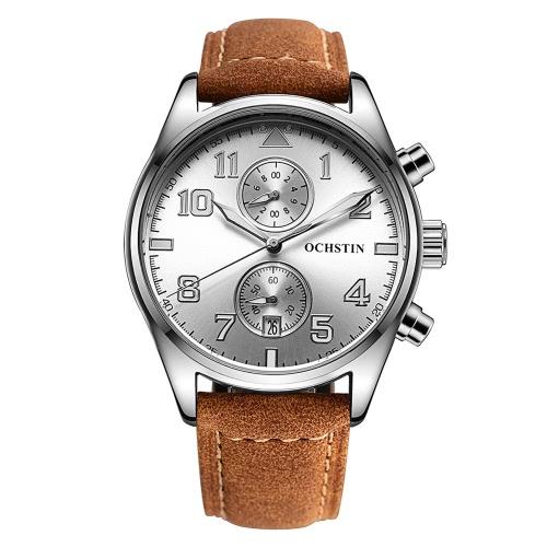 Reloj de cuarzo resistente al agua 3 ATM OCHSTIN Moda analógica Excelente Hombre Reloj de pulsera con calendario