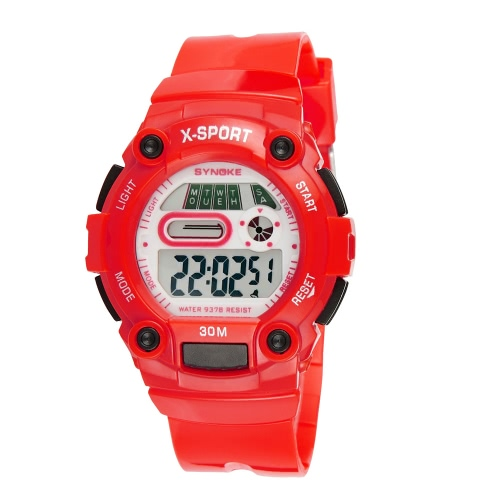 SYNOKE Fashion Cool Student Sports Watch Multi-function 3ATM Life Water-resistant Children Boy Girl Watch with Backlight Chronograph Alarm Date Week Display