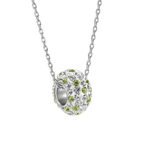 925 Sterling Silver Fashion Unikalne kamień wisiorek Kryształ Rhinestone Naszyjnik Łańcuch Biżuteria Akcesoria dla kobiet dziewczyn prezent
