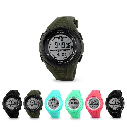 SKMEI Fashion Brand 5ATM Waterproof Fashion Children LCD Digital Stopwatch Chronograph Date Alarm Casual   Sports Wrist Watch