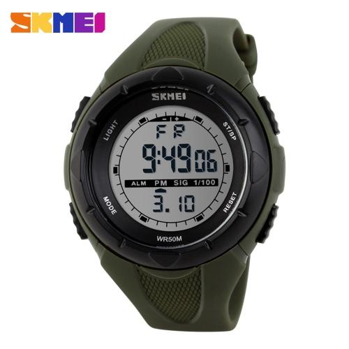 SKMEI Fashion Marke 5ATM Wasserdicht Mode Kinder LCD-Digital-Stoppuhr Chronograph Datum Alarm-beiläufige Sport-Armbanduhr