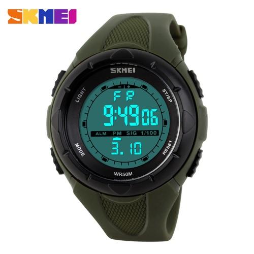 SKMEI Fashion Brand 5ATM Waterproof Fashion Children LCD Digital Cronômetro
