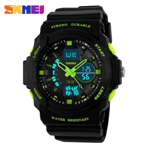 SKMEI nagelneuen Männer Sport-Digital-Uhr-LED-Gelee-Quarz-Armbanduhr-Gummibügel-Militär Male Uhr Armbanduhr 50M wasserdichte Kursteilnehmer Sportuhren