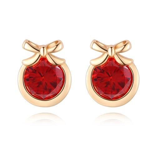 Fashion Charm Zircon Crystal Rhinestone Gold Plated Metal Copper Ear Stud Earring Jewelry for Women