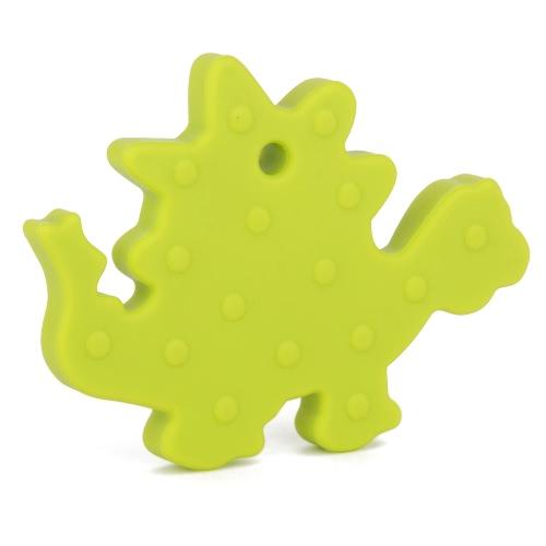 100% de la categoría alimenticia silicona para bebés de mano de dinosaurio animal Mordedor dentición colgante de collar Chew del niño de mamá juguete joyería de enfermería al desgaste libre de BPA