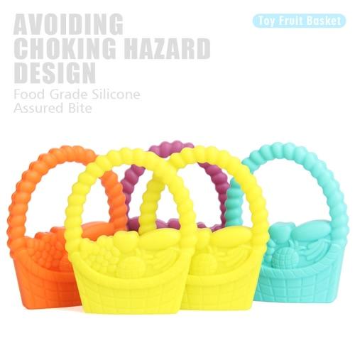 100% качество еды силикона Ручной Корзина жевательные прорезыватель Зубные Подвеска для ожерелье жевать малыша младенца Успокаивающий уход ювелирных игрушки BPA бесплатно СДЕЛАЙ САМ