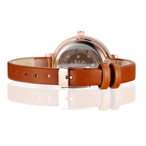 Sk Brand Luxury Pu Leather Strap Quartz Women Watches