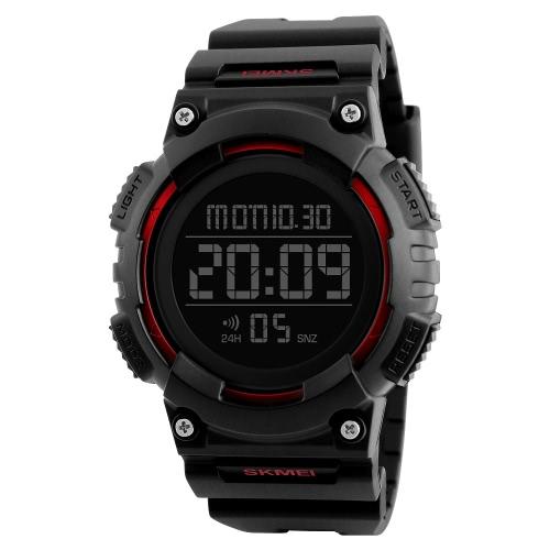 SKMEI Sport Digital Relojes de Pulsera Hombre Relojes 5ATM Resistente al agua Reloj Masculino Backlight