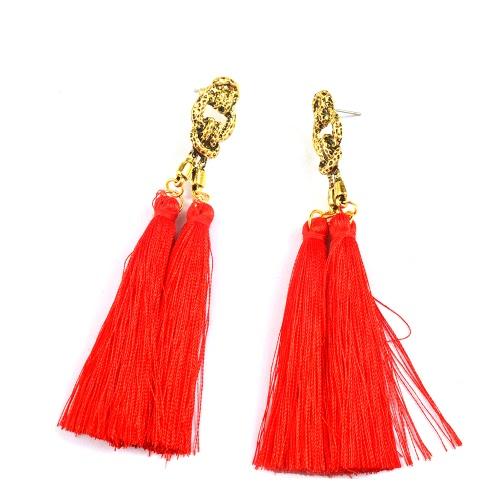 Moda popular estilo bohemio retro largo pendientes de gota de la borla para las mujeres Travel Vintage Jewelry