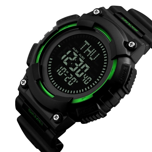 SKMEI 5ATM Water-resistant Sport Watch Men Digital Watches Backlight Wristwatch Male Compass Stopwatch