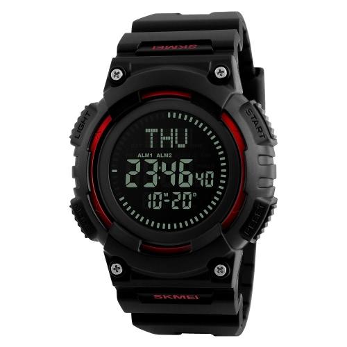 SKMEI 5ATM resistente al agua reloj deportivo hombres relojes digitales retroiluminación reloj de pulsera hombre compás cronómetro