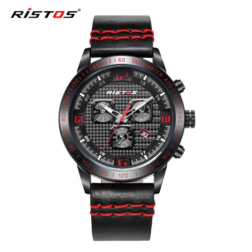 RISTOS 3ATM Water-resistant Sport Watch Men Quartz Watches Luminous Wristwatch Male Relogio Musculino Calendar