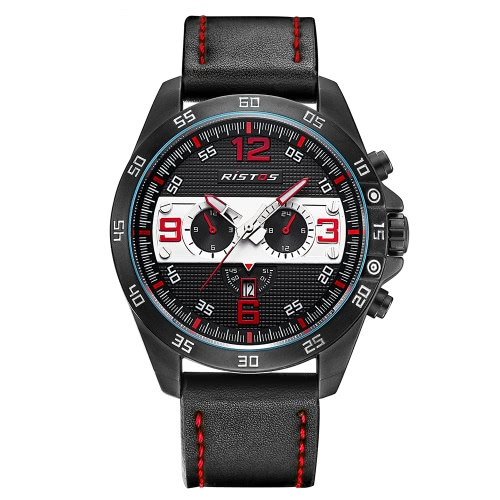 RISTOS Military Army Men Relógios Sport Relógios de pulso 3ATM Water-resistant Quartz Watch Masculino Relogio Musculino Calendário