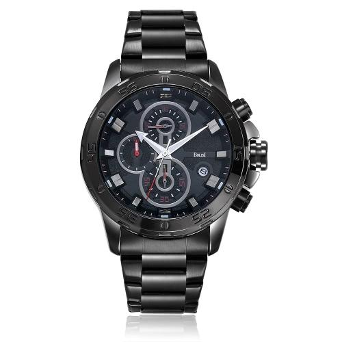 Bolisi reloj de negocios 3ATM resistente al agua reloj de cuarzo reloj de hombres reloj de calendario masculino
