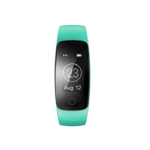 """OLED prueba de agua BT4.0 banda de muñeca inteligente 0.96 """"pantalla táctil pulsera inteligente Fitness Tracker frecuencia cardíaca podómetro monitor de sueño de alarma para IOS 7.1 y Android 4.4 o superior"""
