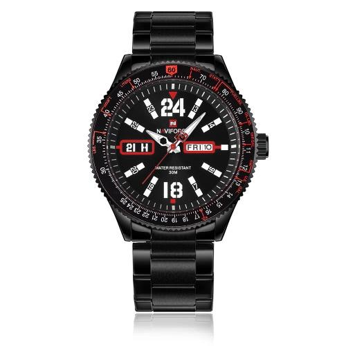 NAVIFORCE Fashion Casual Luxury Watch 3ATM Water-resistant Quartz Watch Luminous Men Wristwatches Male Relogio Musculino Calendar