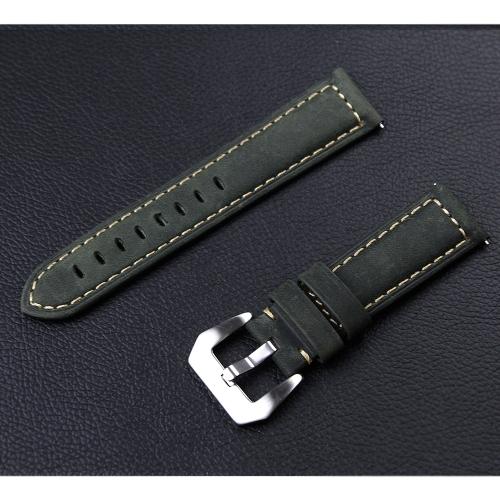 Pulseira de relógio de couro genuíno para Samsung Gear S3 Bracelete de cinto de relógio de 22 mm Pulseira de substituição de fivela