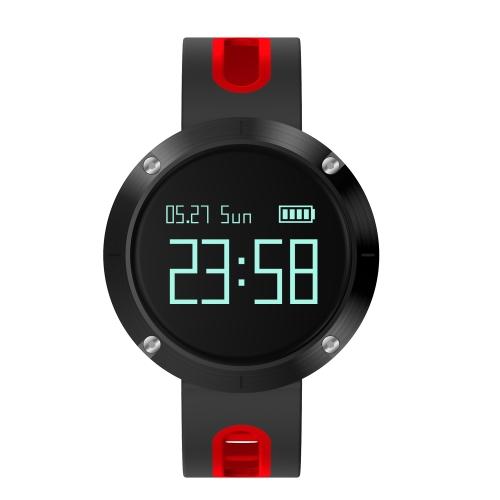 """Reloj inteligente de 0.95 """"Pantalla táctil OLED BT 4.0 NRF51822 Presión arterial de la CPU / Monitor de ritmo cardíaco Podómetro SmartWatch para Android 4.4 y iOS 8.0 o superior"""