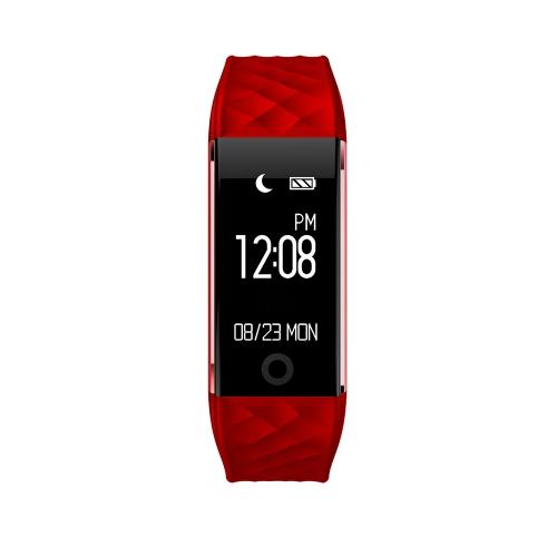 "Smart Wristband 0.96 ""pantalla táctil OLED BT 4.0 Sleep / monitor de ritmo cardíaco podómetro Smart Bracelet Fitness Tracker para Android 4.3 y iOS 7.0 o superior"