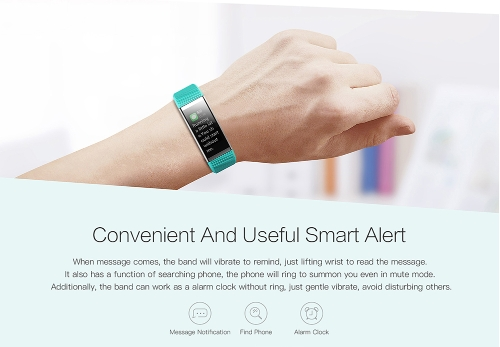 """BT4.0 Water-Proof Smart Wrist Band 0.96"""" colorful Touch Screen Smart Bracelet Fitness Tracker Heart Rate Pedometer Sleep Monitor Alarm Compatible IOS & Android"""