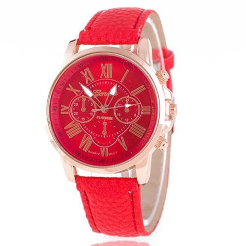 Moda de lujo PU Leather Quartz Women Watches Vintage Style Lasies Casual reloj de pulsera Feminio Relogio