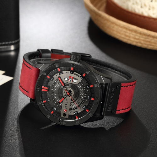 Relojes CURREN Fashion Genuine Leather Men
