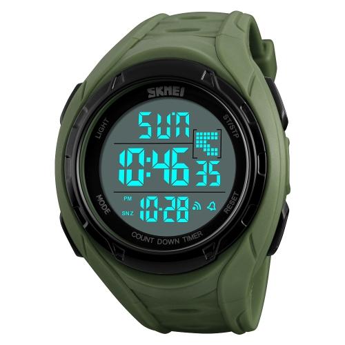 SKMEI Sport Reloj digital 5ATM resistente al agua Relojes unisex Reloj de pulsera con luz de fondo Hora / Semana / Alarma / Fecha / Chrono