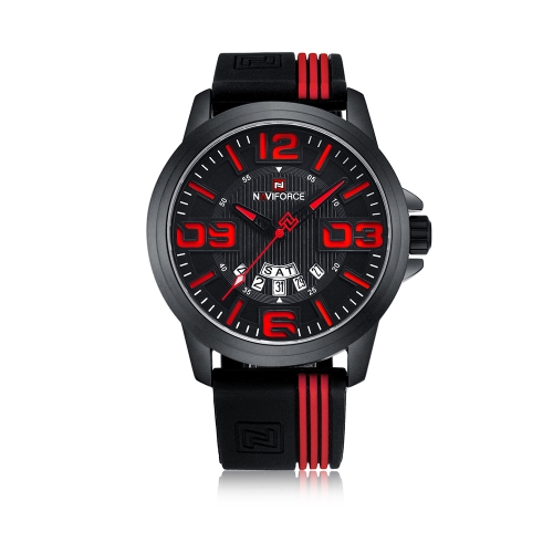 NAVIFORCE Fashion Men Watch 3ATM Water-resistant Quartz Casual Man Wristwatch Relogio Musculino Week