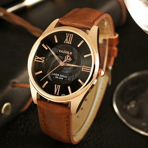 YAZOLE Fashion Business Men Watches Quartz Male Watch 3ATM resistente al agua Luminous Man Watch Time Display