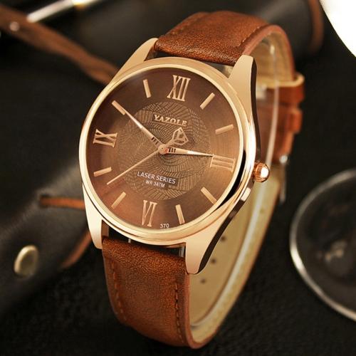 YAZOLE Fashion Business Men Watches Quartz Male Watch 3ATM resistente al agua Luminous Man Watch Time Display