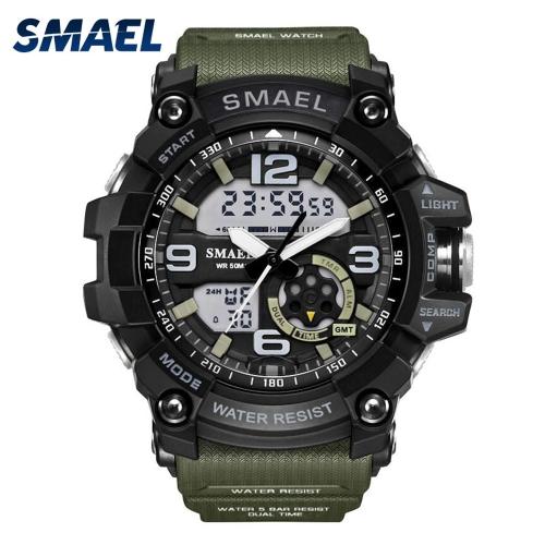 Relógios de pulso duplos da exposição do relógio à prova de água impermeável eletrônico Multi-function dos esportes dos homens