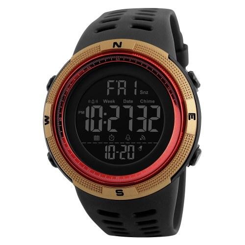 SKMEI Men Sports Orologi Countdown doppio tempo Orologio sveglia Cronografo digitale da polso 50M impermeabile Relogio Masculino