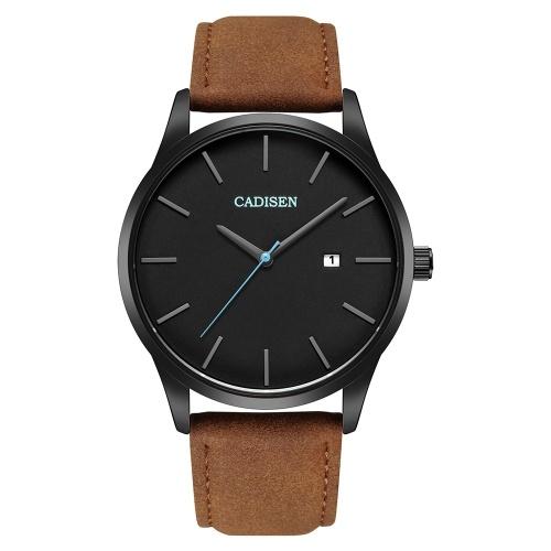 Cadisen Moda Homens Relógios De Quartzo De Luxo Esportes Relógio De Pulso Simples Relógio De Negócios De Calendário