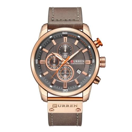 カレンの高品質の時計クォーツの腕輪アナログデジタル革ファッションカジュアルビジネス男性スポーツ時計