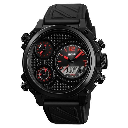 SKMEI 1359 Мужские кварцевые 5 Time Chrono Спортивные часы