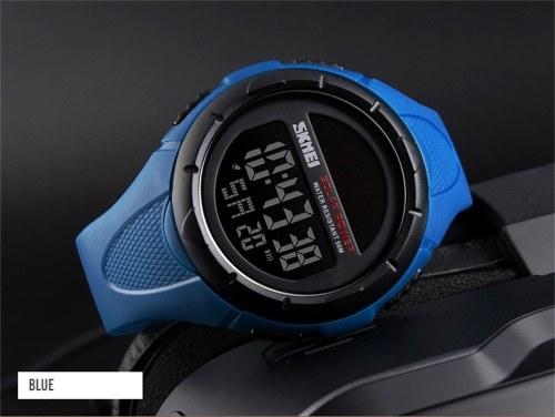 SKMEI 1405 Men Analog Digital Watch Fashion Casual Sports Wristwatch 5ATM Waterproof Leather Strap Backlight Multifunctional Watches Relogio Masculino