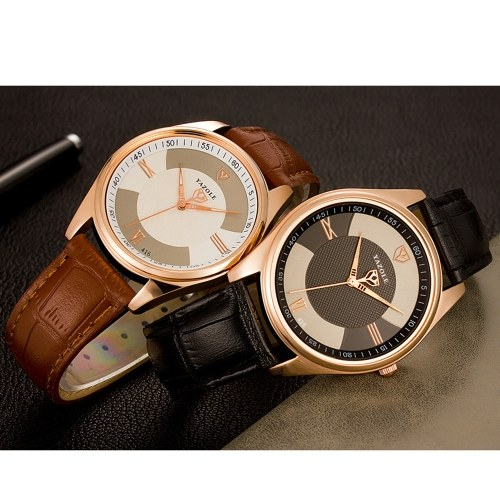 YAZOLE 416 Leather Watch Quartz Watch Fashion Casual Business Wrist Watch