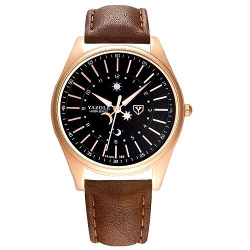 YAZOLE 368 Leather Watch Men Top Brand Luxury Brand Wristwatch