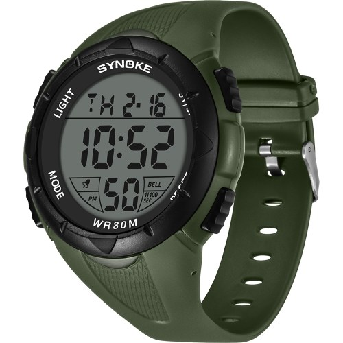 Immagine di SYNOKE 9005 Sport Watch LED Digital Watch Alarm Luminoso Second Timing Daily Sport Band impermeabile