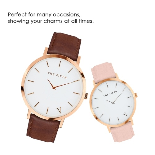 Image of 160 Women Watch Quartz Leather Strap Simple Wristwatch